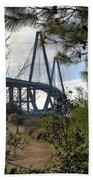 Cooper River Bridge Afternoon Beach Towel