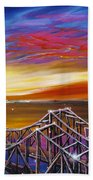 Cooper River Bridge Beach Towel by James Christopher Hill