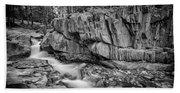 Coos Canyon Black And White Beach Sheet
