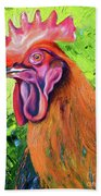 Copper Maran French Rooster Beach Towel