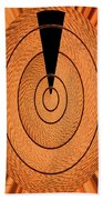 Copper Panel Abstract Beach Towel