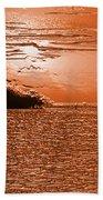 Copper Plate Sunrise Beach Towel