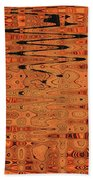 Copper Plates Double Abstract Beach Towel