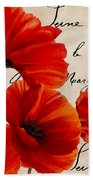 Coquelicots Rouge I Beach Towel