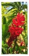 Coral Flower Beach Towel