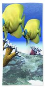 Coral Moods Beach Towel by Corey Ford