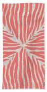 Coral Zebra 2 Beach Towel