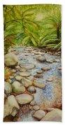 Coranderrk Creek Yarra Ranges Beach Towel