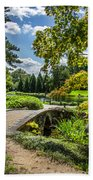 Corbel Arch Bridge Japanese Garden Maymont Beach Towel