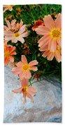 Coreopsis Sienna Sunset Beach Towel