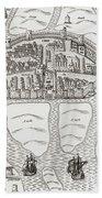 Cork, County Cork, Ireland In 1633 Beach Towel