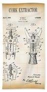 Cork Extractor Patent  1930 Beach Towel