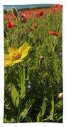 Corn Marigold And Poppies Beach Towel