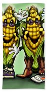 Corn Party Beach Towel