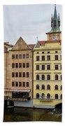 Corner Buildings In Prague Beach Towel