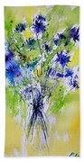 Cornflowers Beach Towel