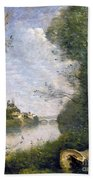 Corot: Cathedral, C1855-60 Beach Towel