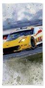 Corvette Racing Beach Towel