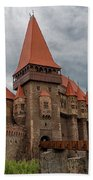 Corvin's Castle Beach Towel by Yair Karelic