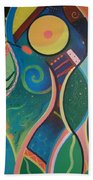 Cosmic Carnival V Aka The Dance Beach Towel