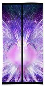 Cosmic Collage Mosaic Left Mirrored Beach Towel