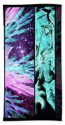 Cosmic Collage Mosaic Left Side Flipped Beach Towel by Shawn Dall