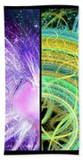 Cosmic Collage Mosaic Beach Towel by Shawn Dall