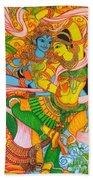 Cosmic Dance Of Krsna  Beach Towel