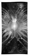 Cosmic Heart Of The Universe Bw Beach Towel