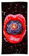 Cosmic Lips 2 Beach Towel