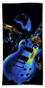 Cosmic Rock Guitar Beach Towel