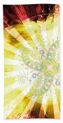 Cosmic Solar Flower Fern Flare 2 Beach Towel