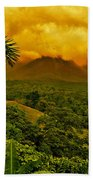 Costa Rica Volcano Beach Towel