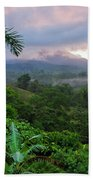 Costa Rica Volcano View Beach Towel