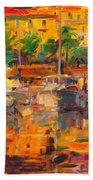Cote D'azur Reflections Beach Towel
