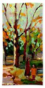 Cottage Country The Eastern Townships A Romantic Summer Landscape Beach Towel by Carole Spandau