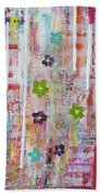 Cottage Flower Garden Beach Towel