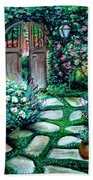 Cottage Gates Beach Towel