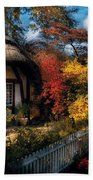 Cottage - Grannies Cottage Beach Towel by Mike Savad