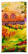 Cottage In Maine Beach Towel