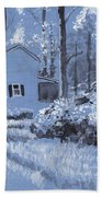 Cottage In The Woods Beach Towel