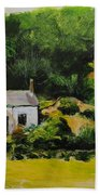 Cottage In Wales Beach Towel