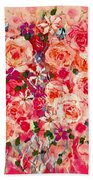Cottage Roses Beach Towel