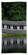 Cottage Sinking In The Rideau Canal Beach Towel