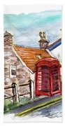 Cottages In Runswick Bay Beach Towel