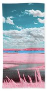 Cotton Candy Marsh Beach Towel