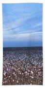 Cotton Fields At Dusk Casa Grande Arizona 2004 Beach Towel