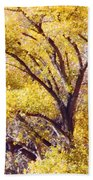 Cottonwood Golden Leaves Beach Towel