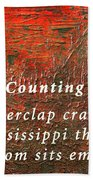 Counting Beach Towel