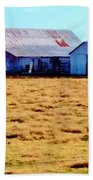 Country Barn And Shed Beach Towel